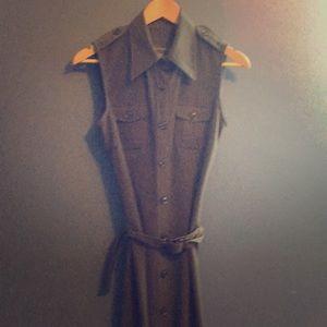 Long size six dark grey dress